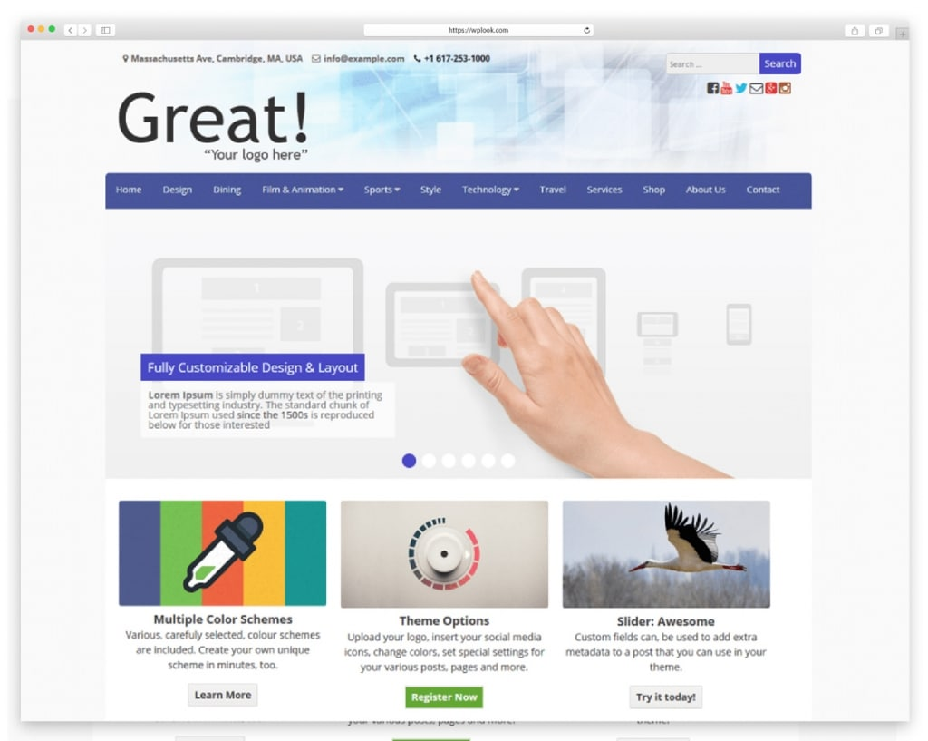 Great Free WordPress Theme