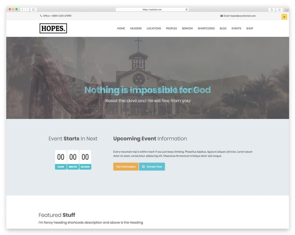 Hopes WordPress Theme for Nonprofit