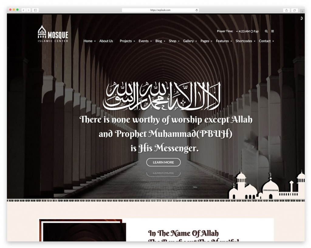 Mosque – Islamic Center WordPress Responsive Theme