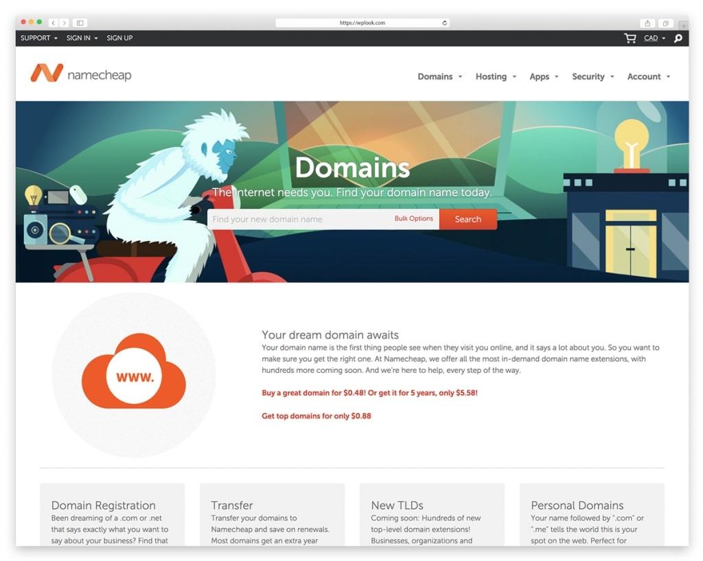 NameCheap - Website Domain Name Register