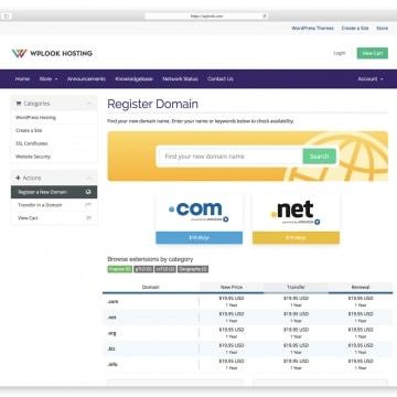 WPlook - Website Domain Name Registrar