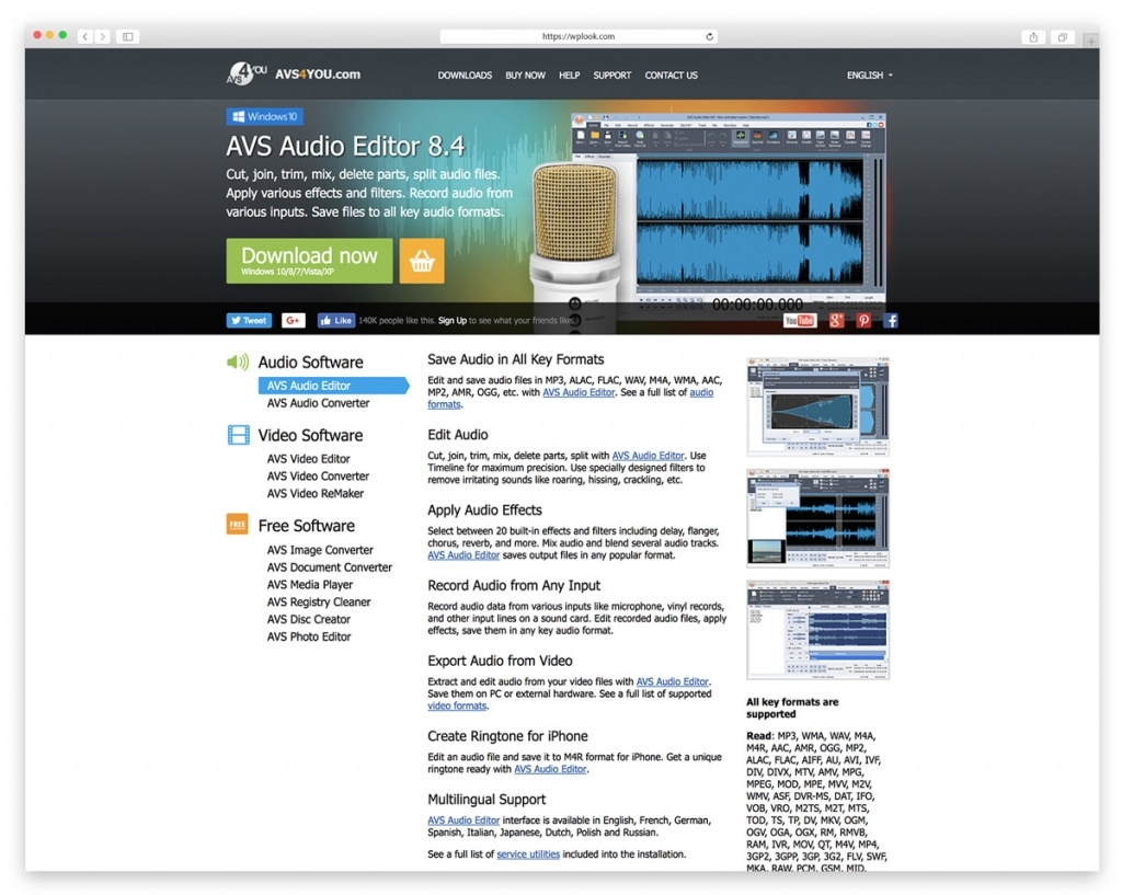 AVS Audio Editor 8.4 - Audio Editing Software