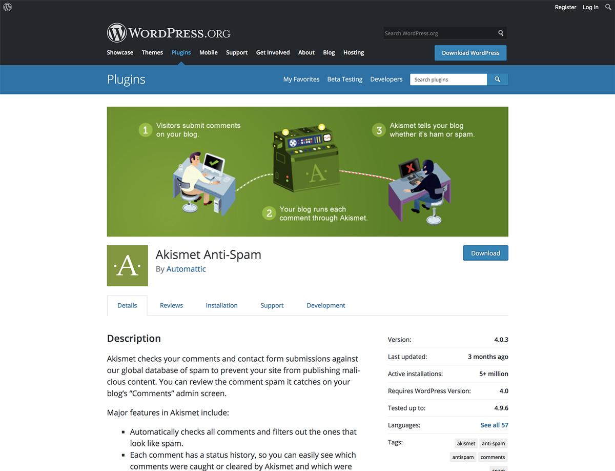 Akismet Anti-Spam - WordPress Plugin