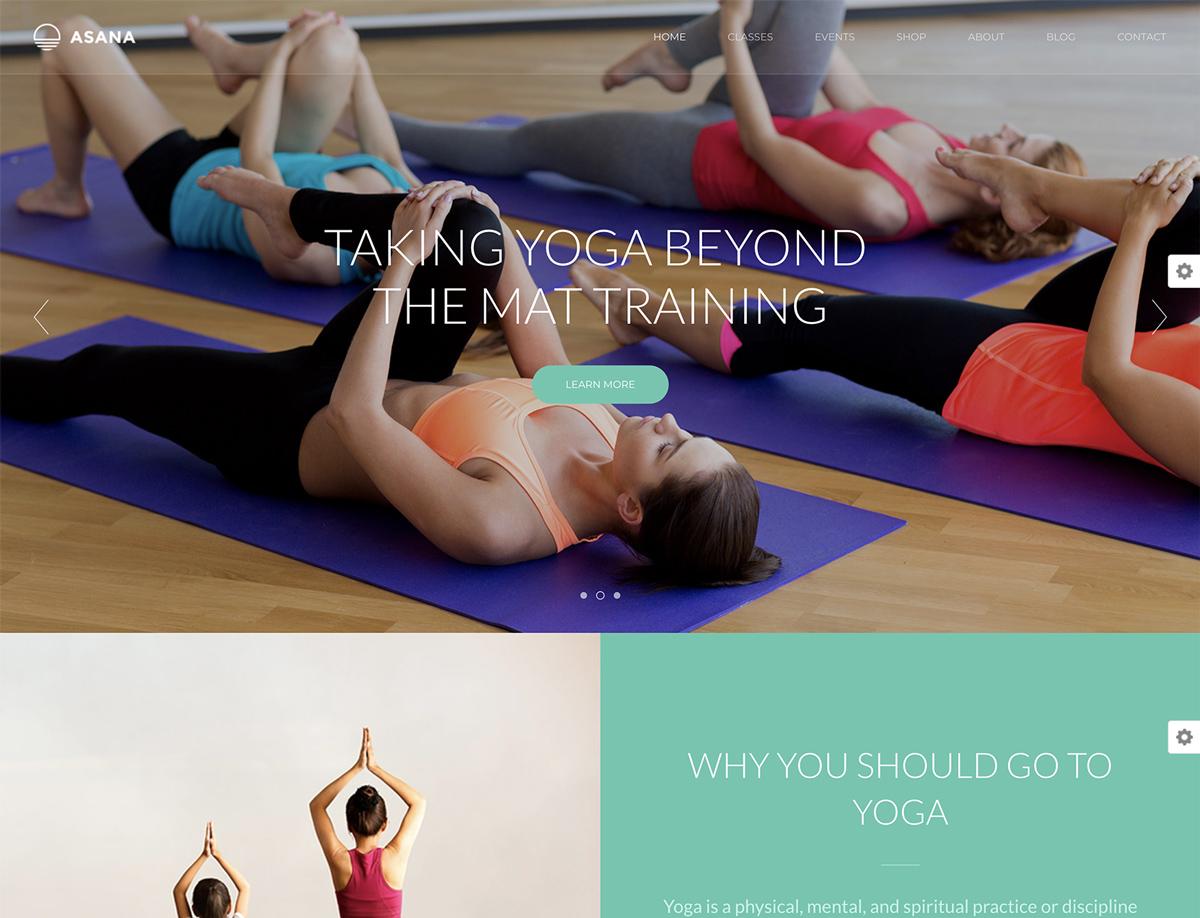 Asana - Sport and Yoga WordPress Theme