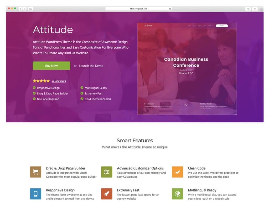 Attitude - Drag and Drop WordPress Theme