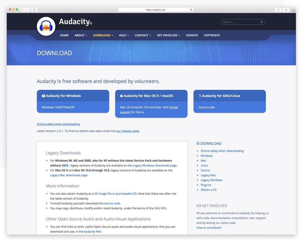 Audacity - Free Audio Editing Software