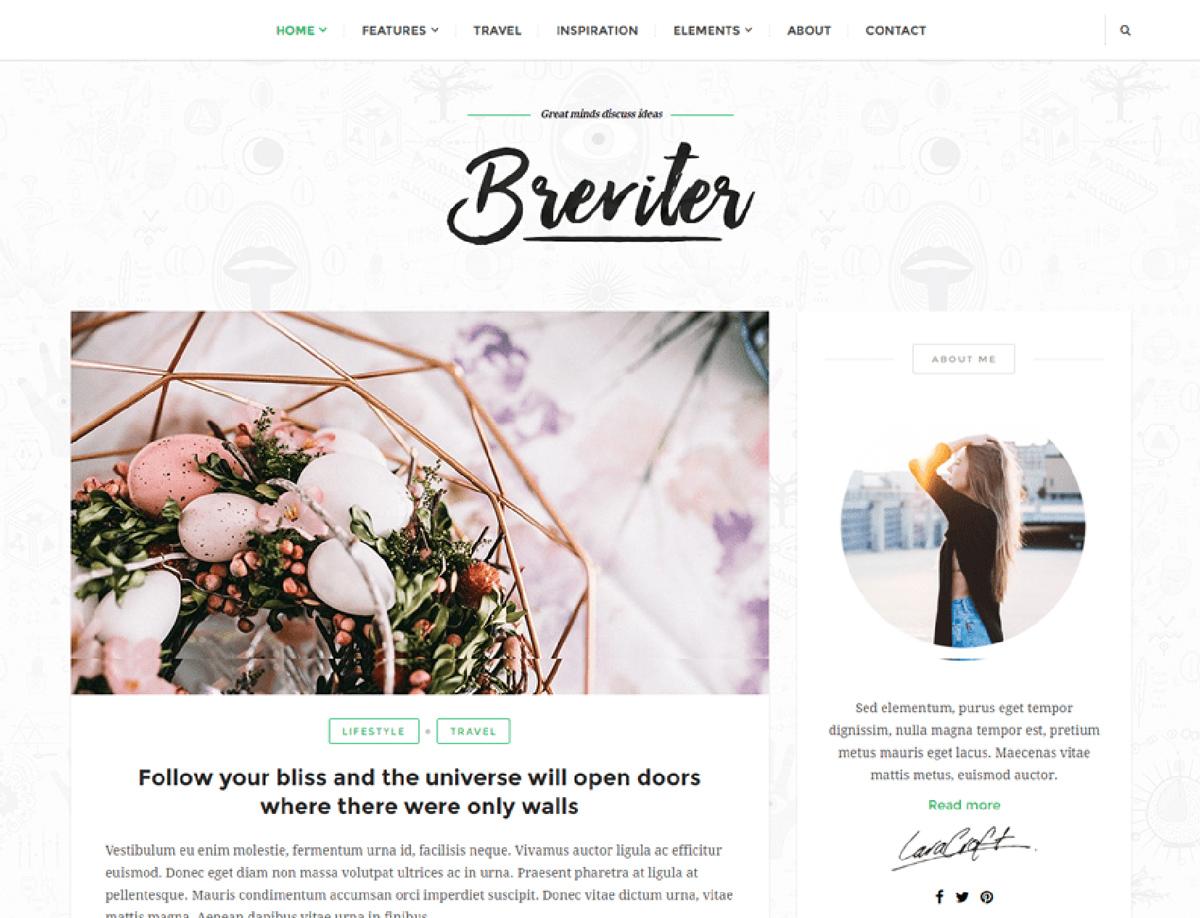 Breviter - Free WordPress theme