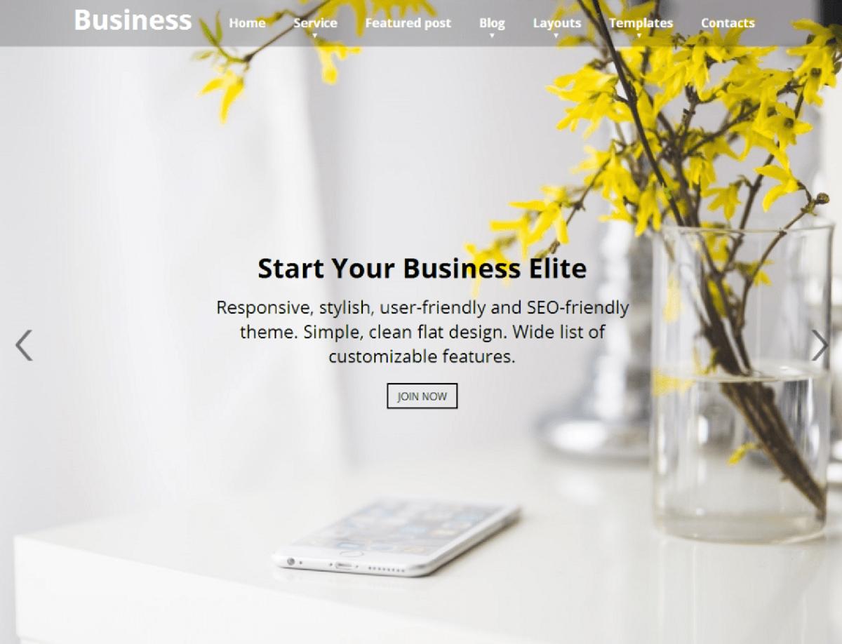 Business Elite - Free Responsive WP Theme