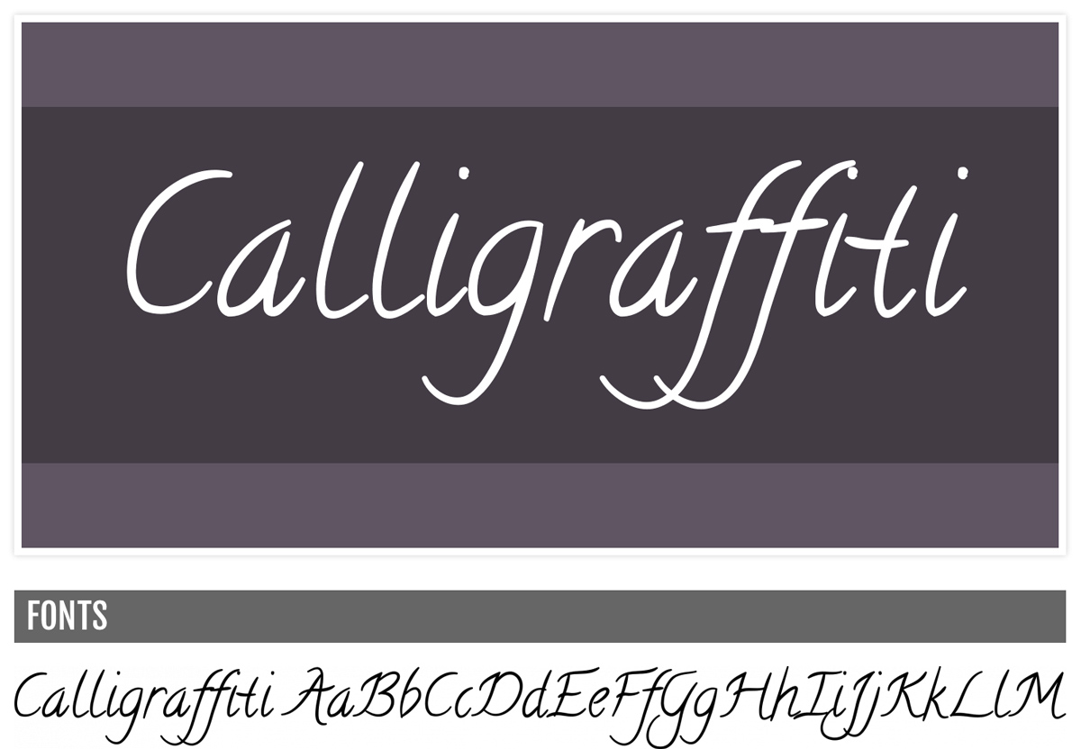 Calligraffiti - Handwritten Fonts