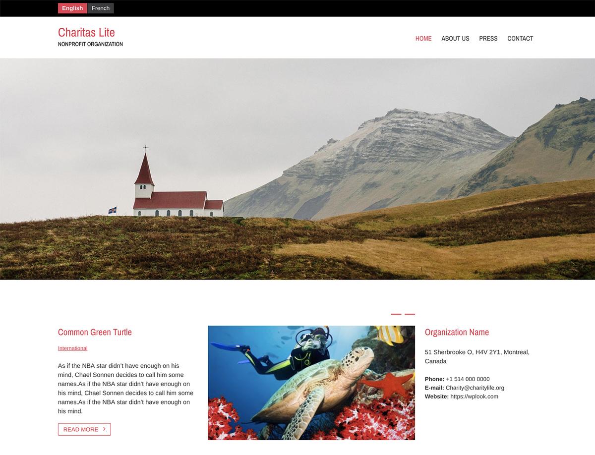Charitas Lite - Free Nonprofit WordPress Theme