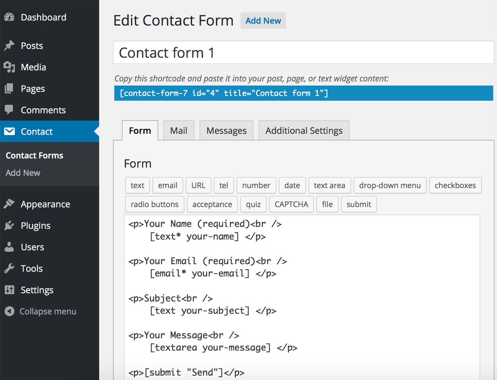 Contact Form 7 - WordPress Plugin