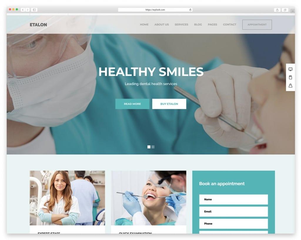 Etalon - WordPress Theme for Dental Services