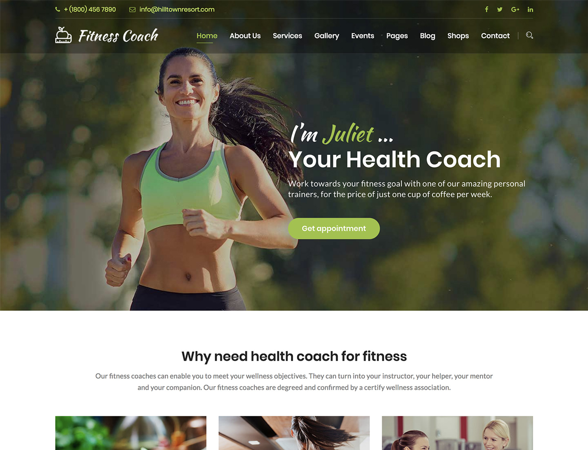 Fitness Coach - Health, Fitness, Personal Coach Template