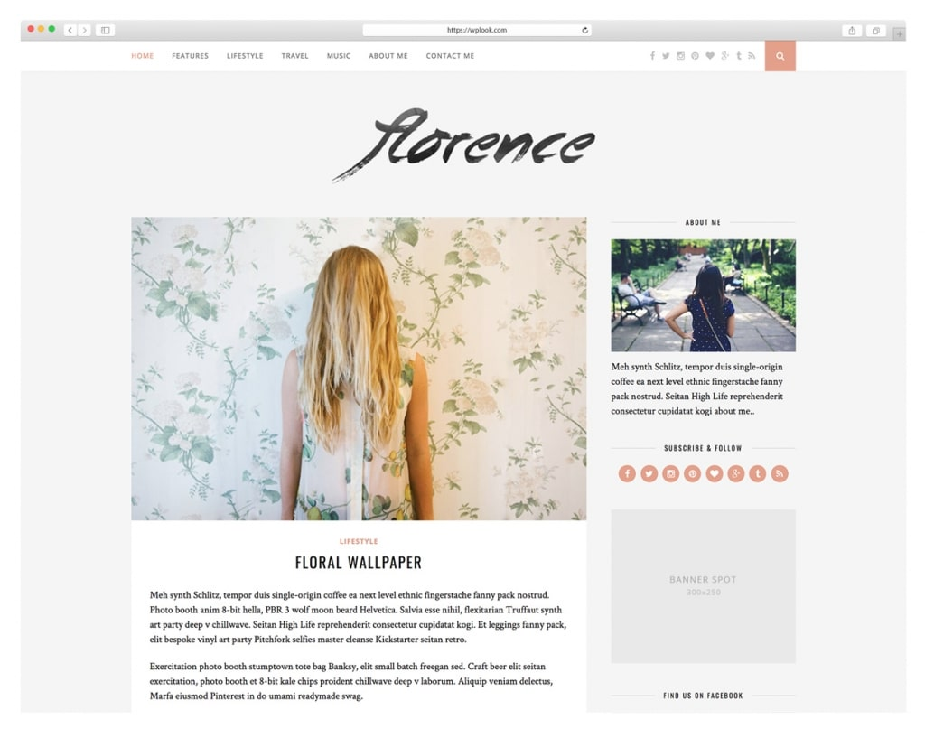 Florence - Lifestyle WordPress Theme
