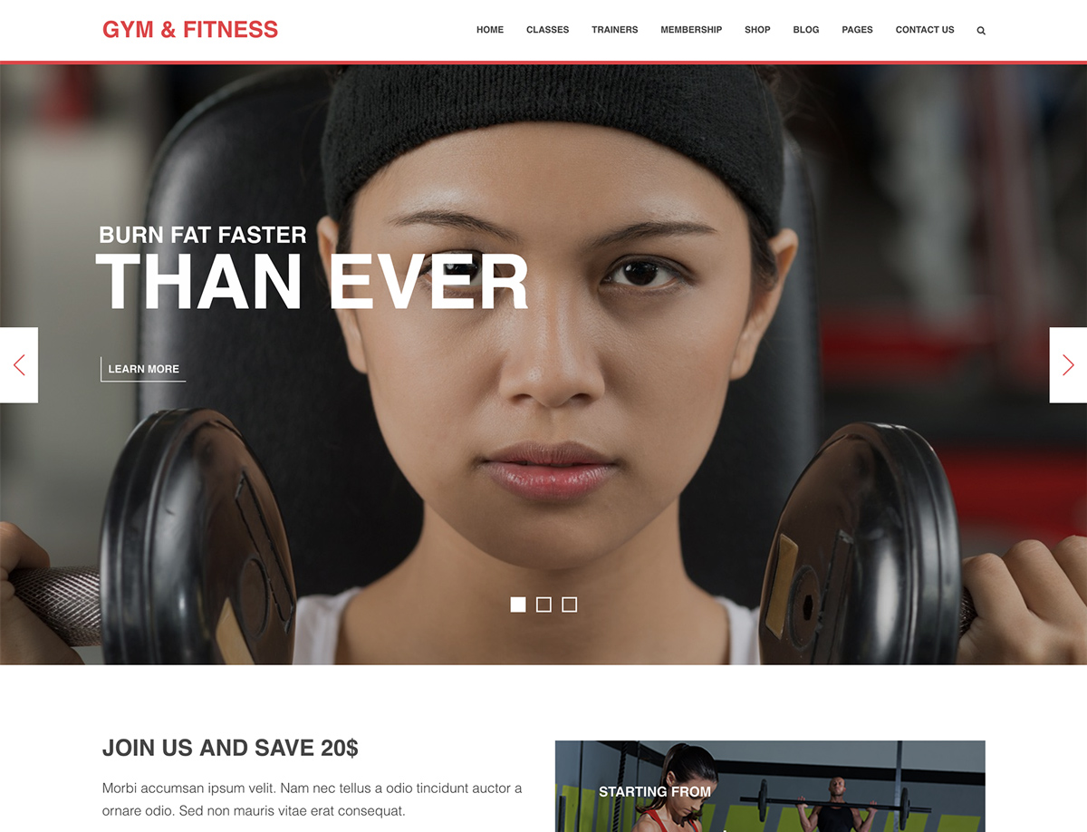 11+ Best Gym and Fitness WordPress Themes 2018 - WPlook Themes