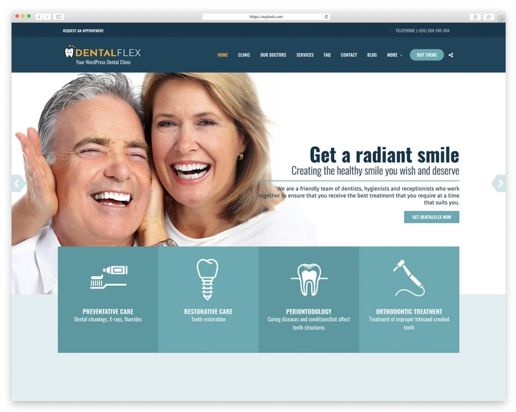 Healthflex - Dentist WordPress Theme