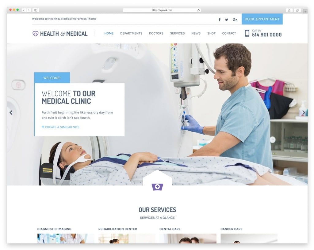 Health & Medical - WordPress Theme for Dentists