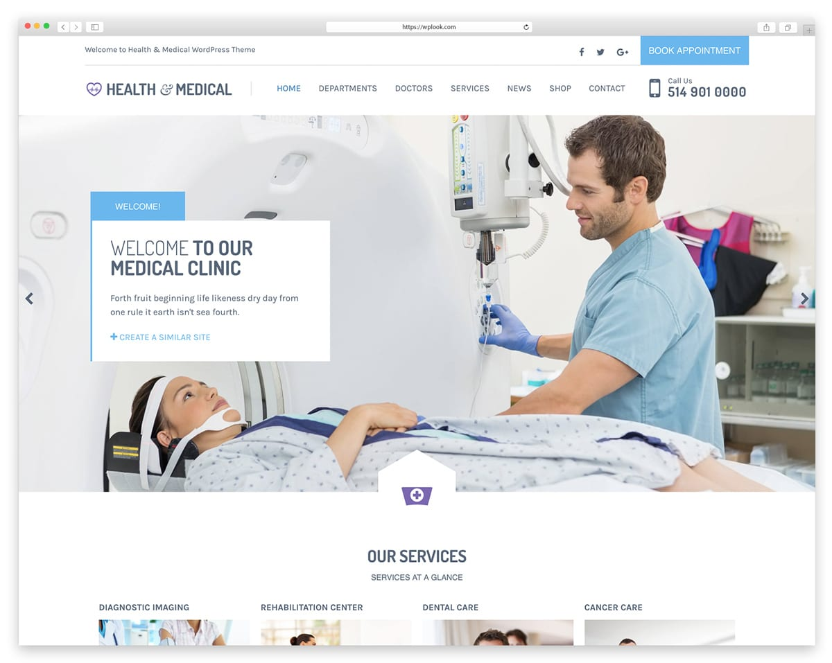 Health & Medical - WordPress Theme for Dentists