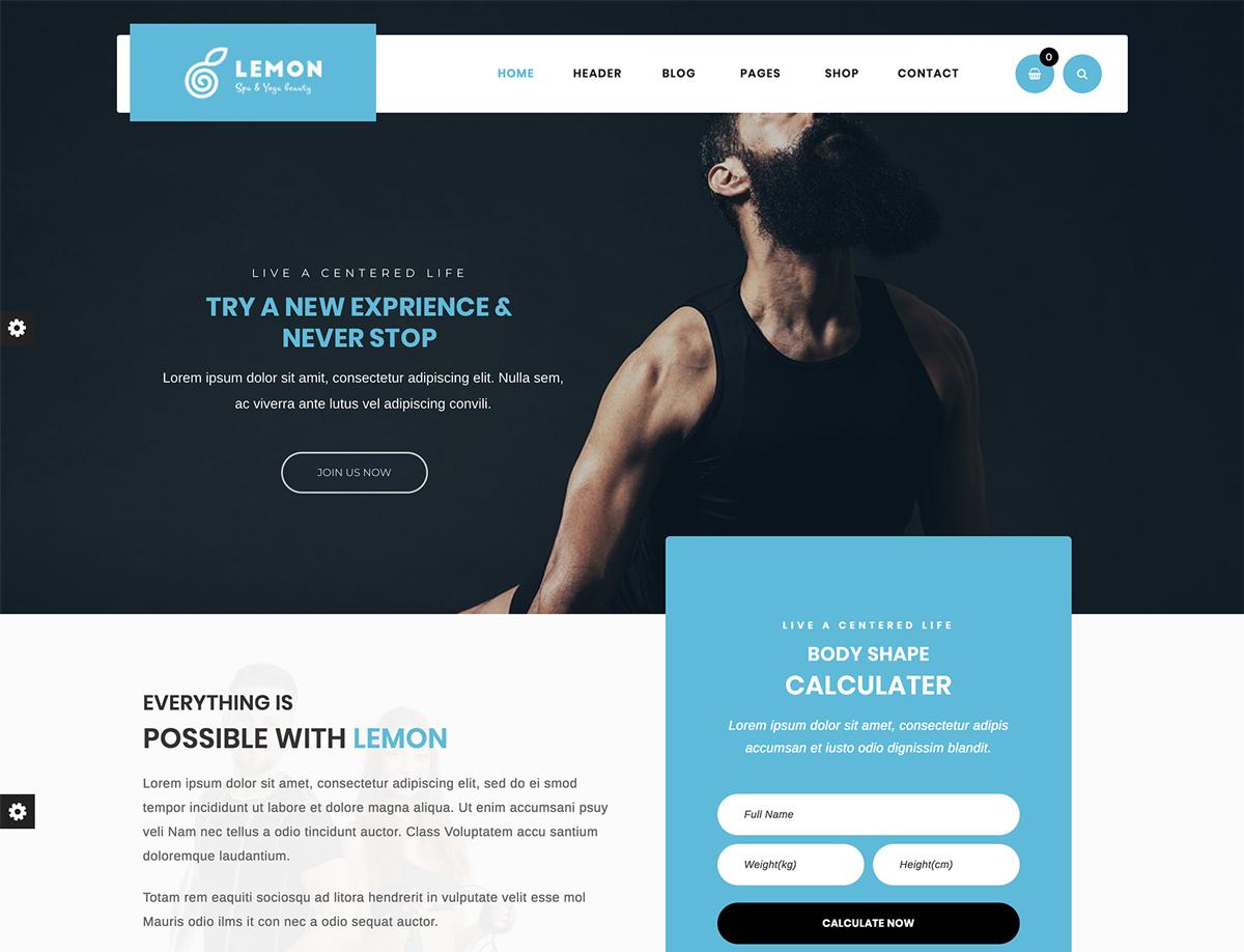 Lemon - Gym and Fitness WordPress Theme