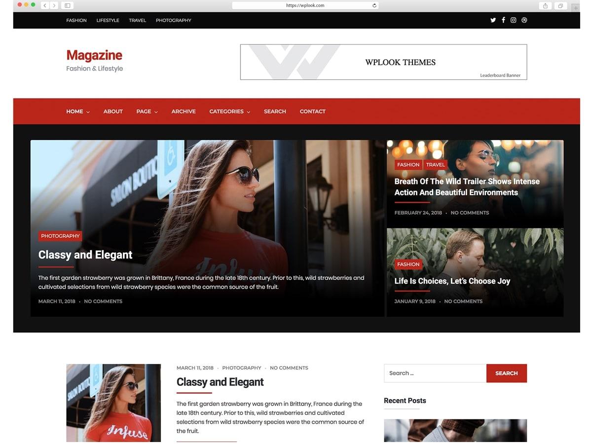 Magazine -Magazine - LifeStyle WordPress ThemeWordPress Theme for Photograph Bloggers.
