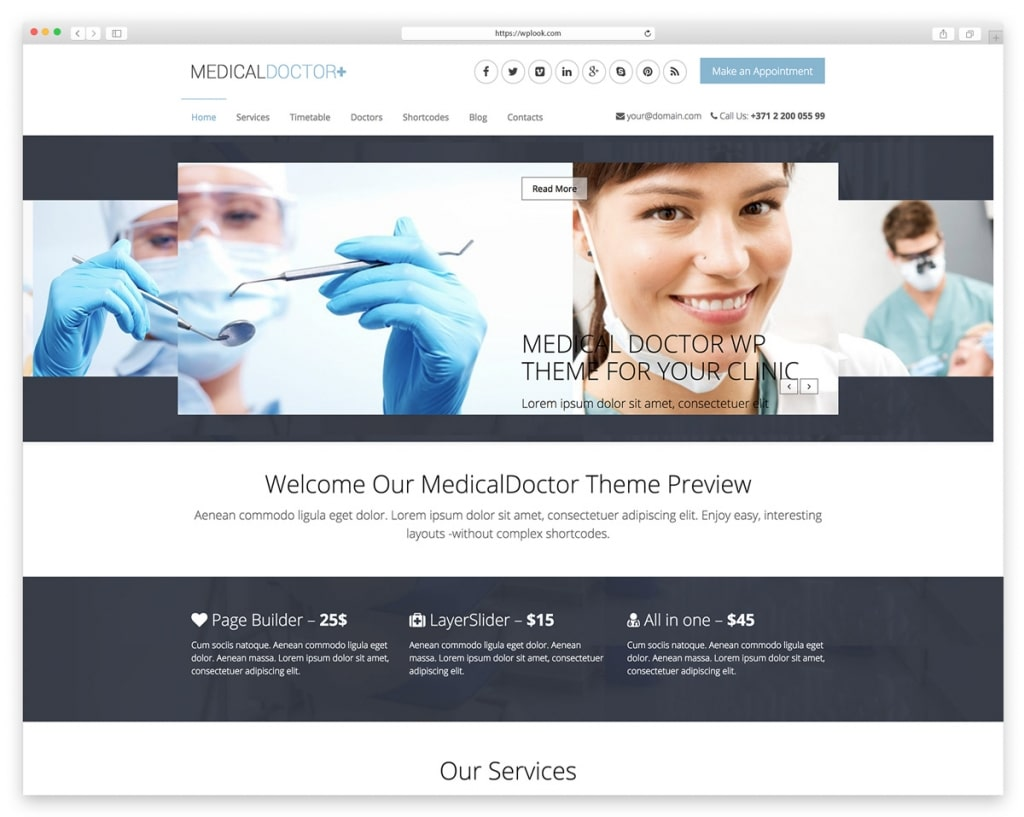 MedicalDoctor - WordPress Theme for Dentists