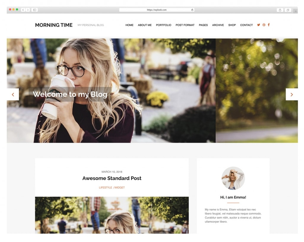 Morning Time - WordPress Theme for Personal and LifeStyle Blog