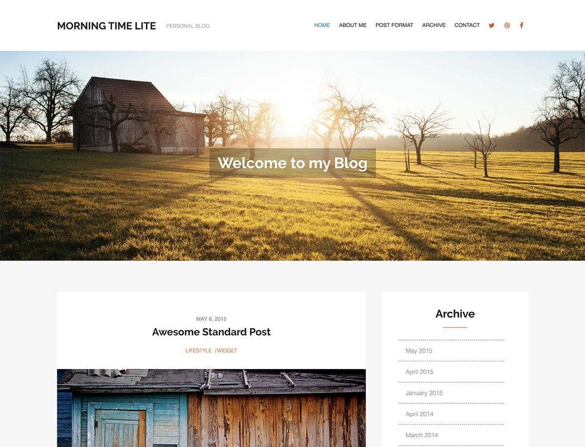 Morning Time Lite - Free WordPress theme