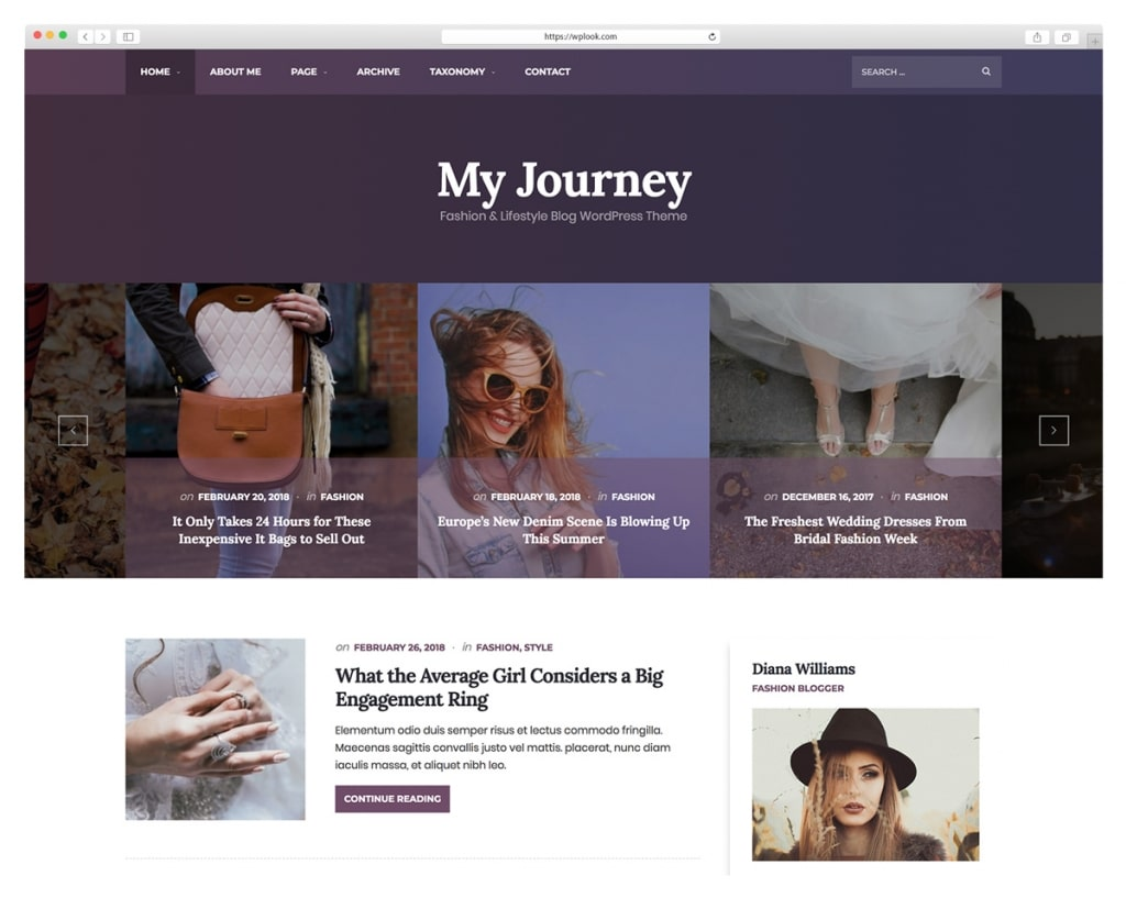 My Journey - Lifestyle Blog & Magazine WordPress Theme