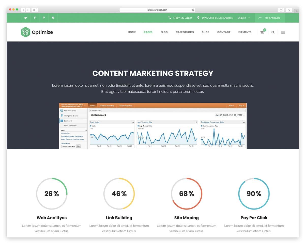 Optimize - Digital Marketing Theme