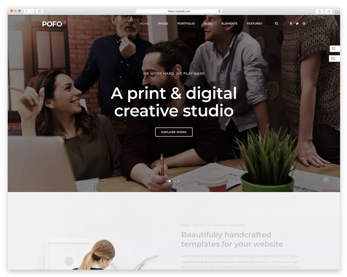 Pofo - Creative Portfolio WordPress Theme