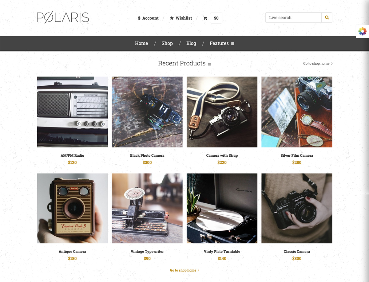Polaris — Minimal & Powerful Multipurpose WooCommerce Theme