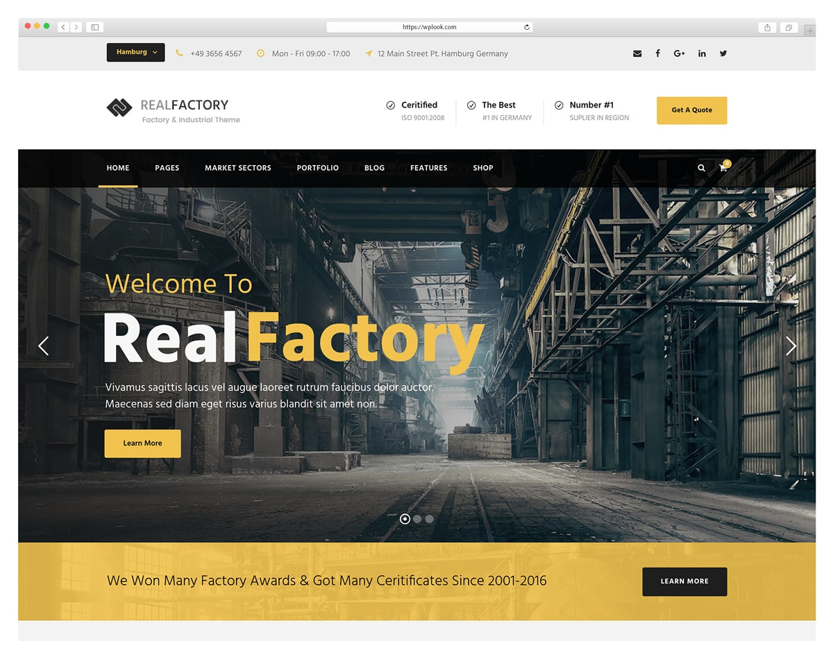 Real Factory - WordPress Theme for Construction