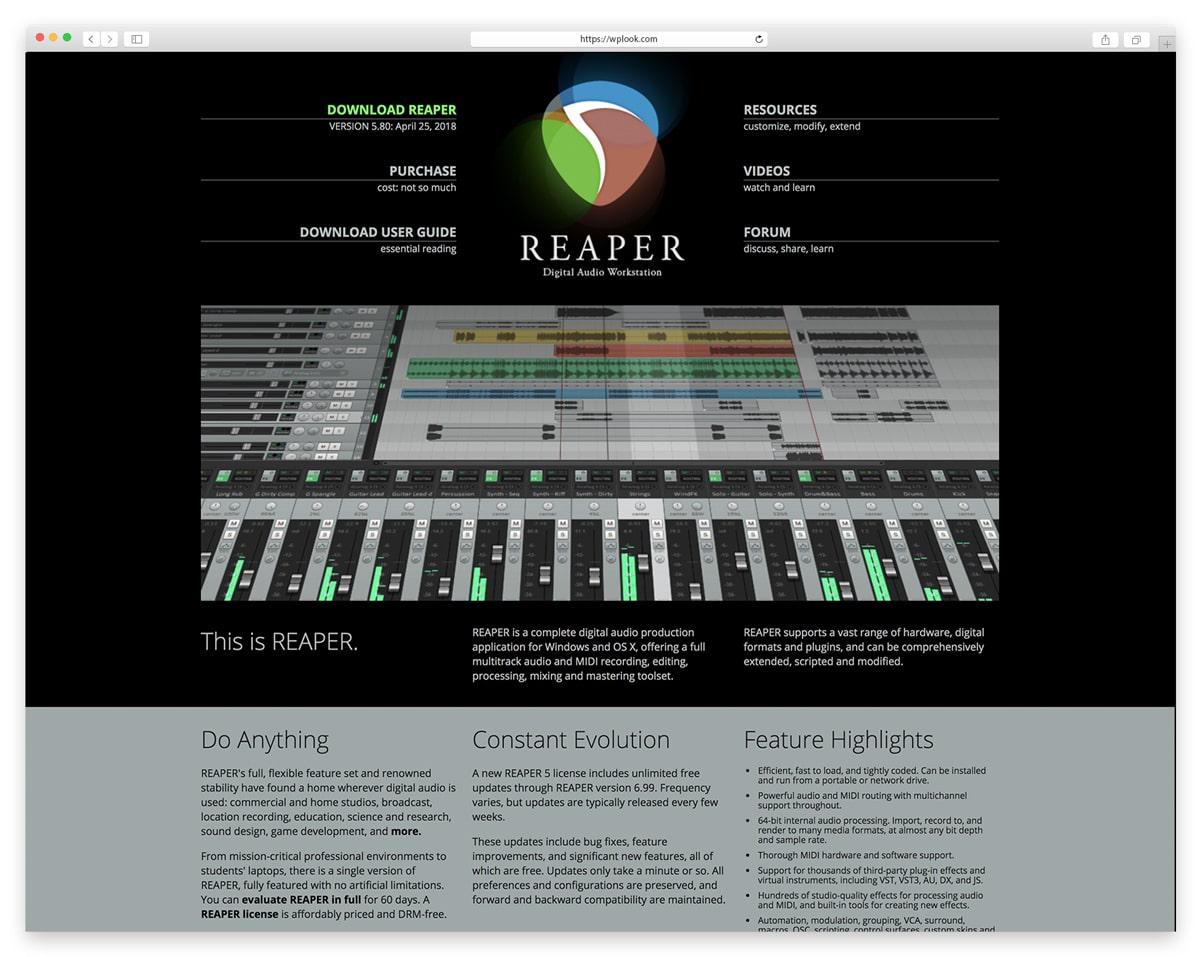 Reaper - Digital Audio Production Application