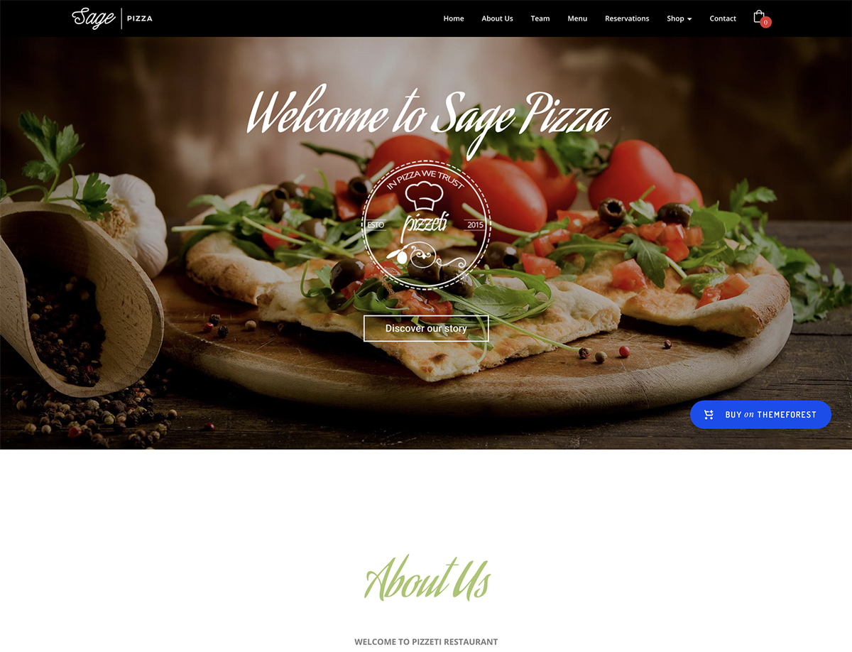 Sage - Premium WordPress Theme Built for Restaurants