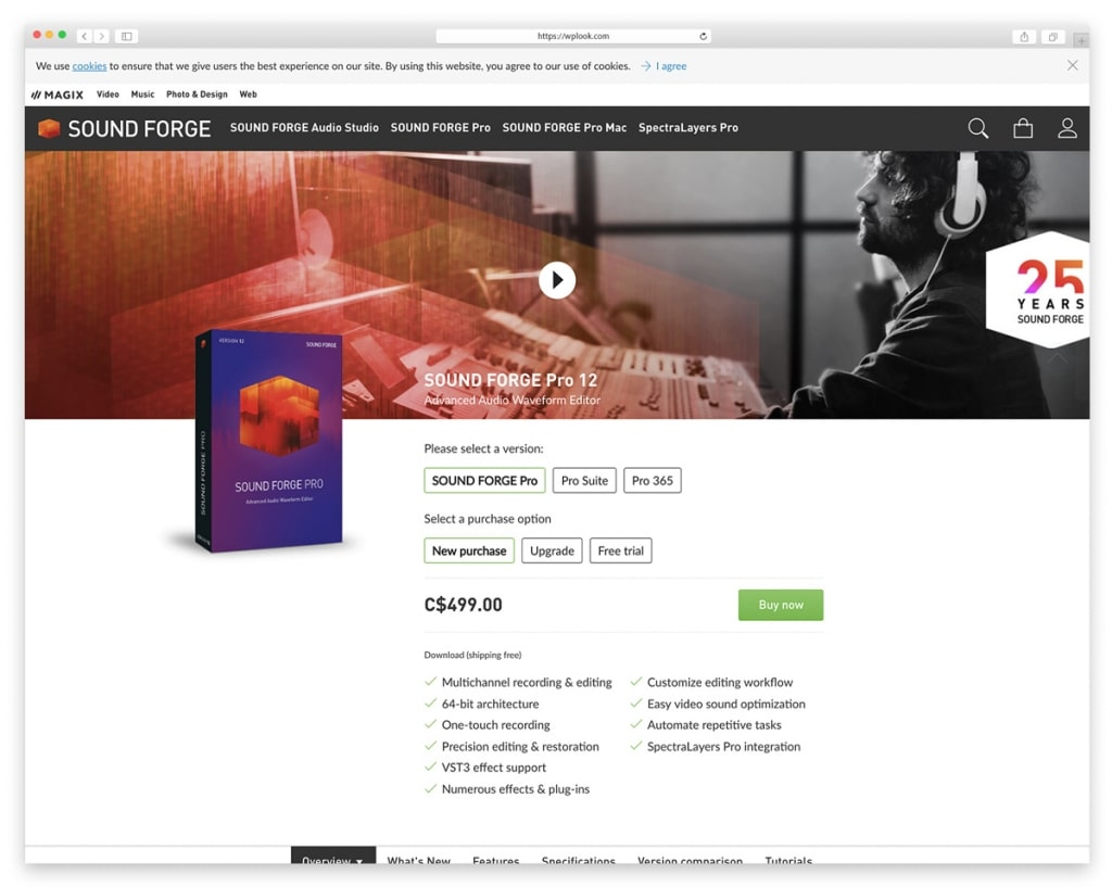 Soundforge - Recording, editing and processing Audio Software