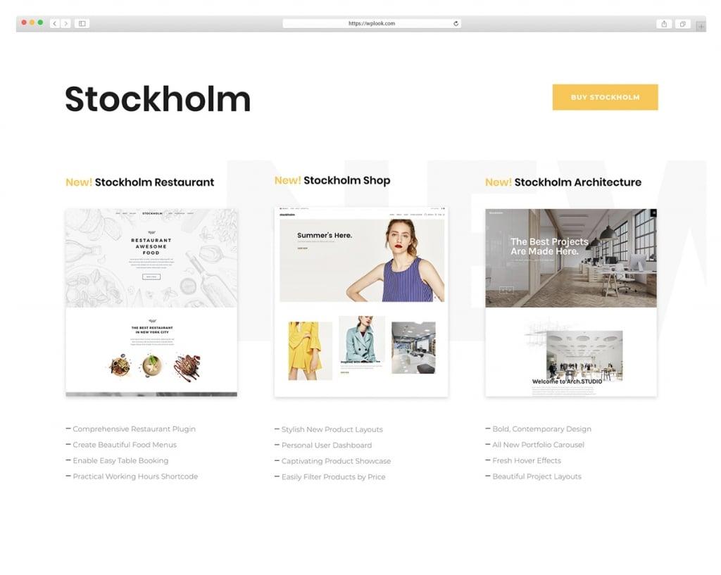 Stockhlom - Drag & Drop WordPress Theme