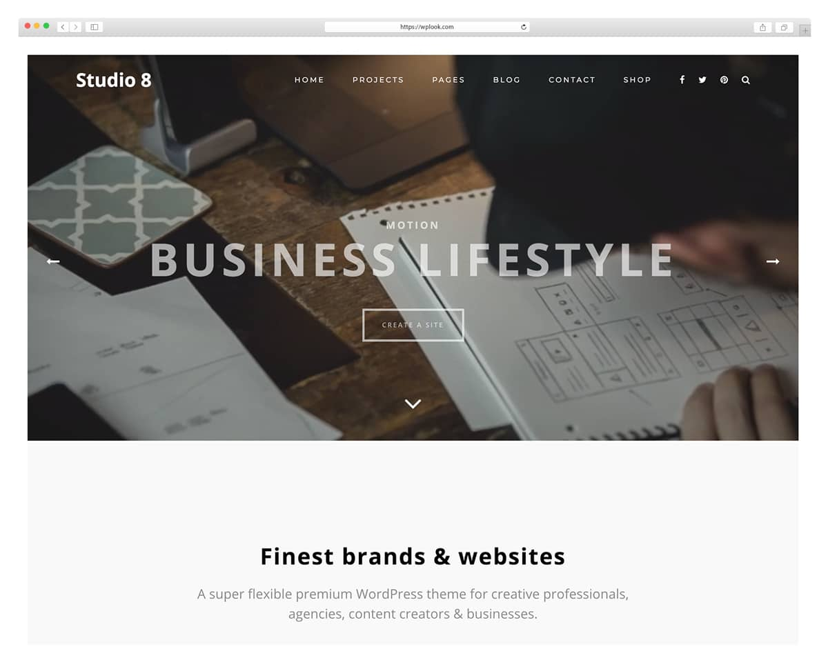 Studio 8 - WordPress Theme for Photography