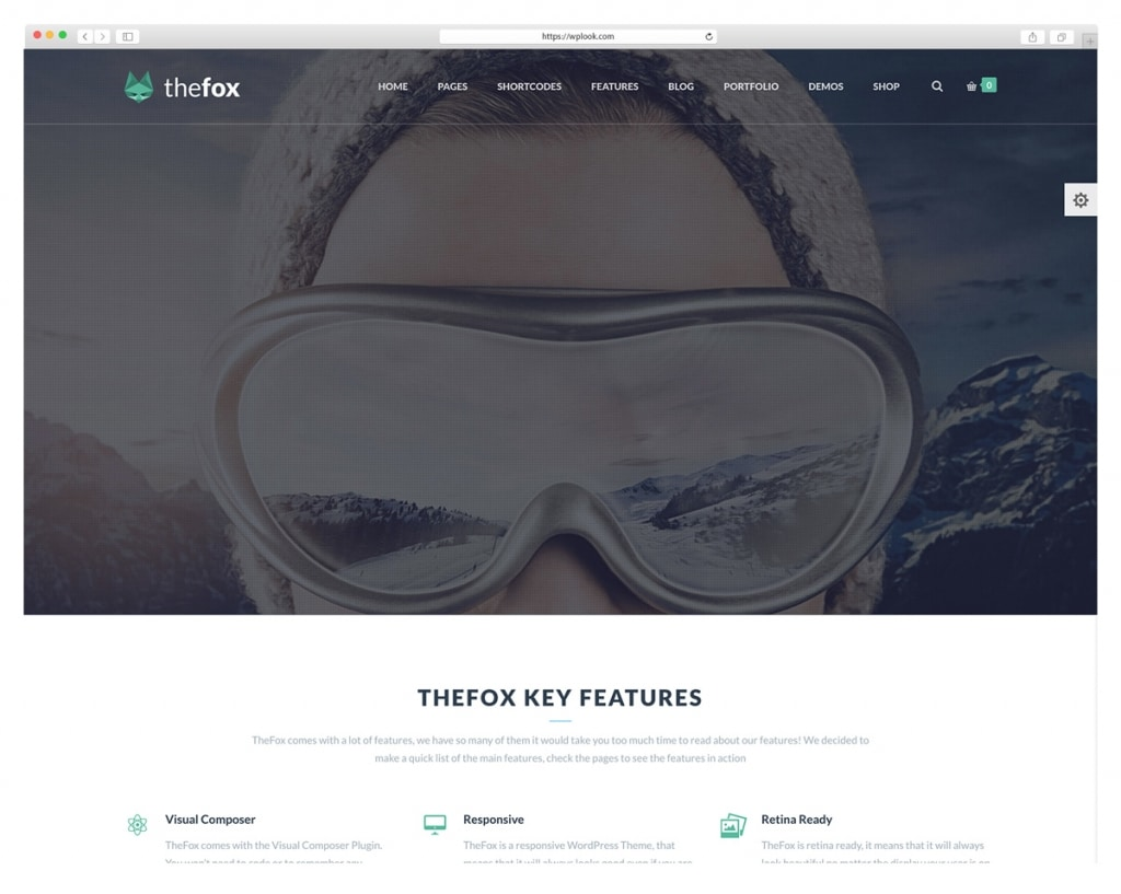 The Fox - WordPress Theme Integrated with Visual Composer