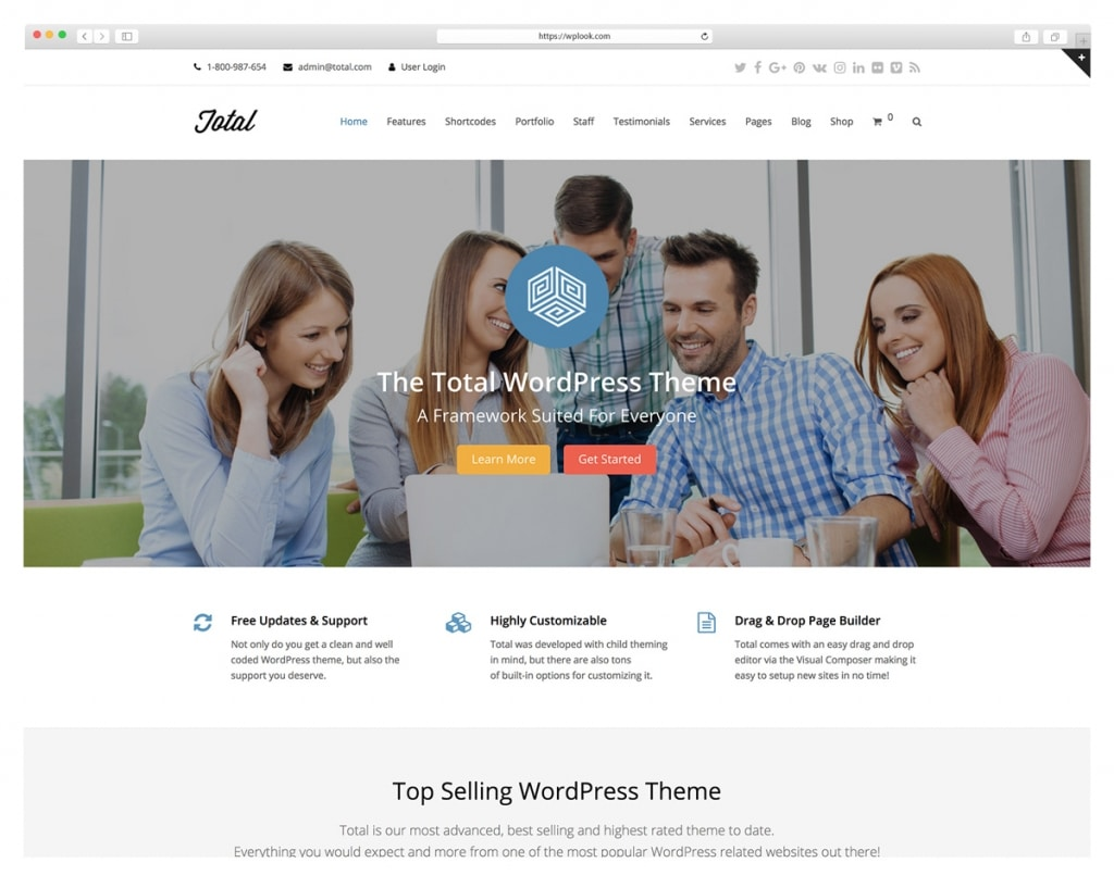Total - WordPress Theme powered by Visual Composer