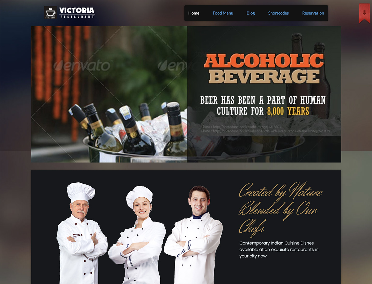 wordpress restaurant themes