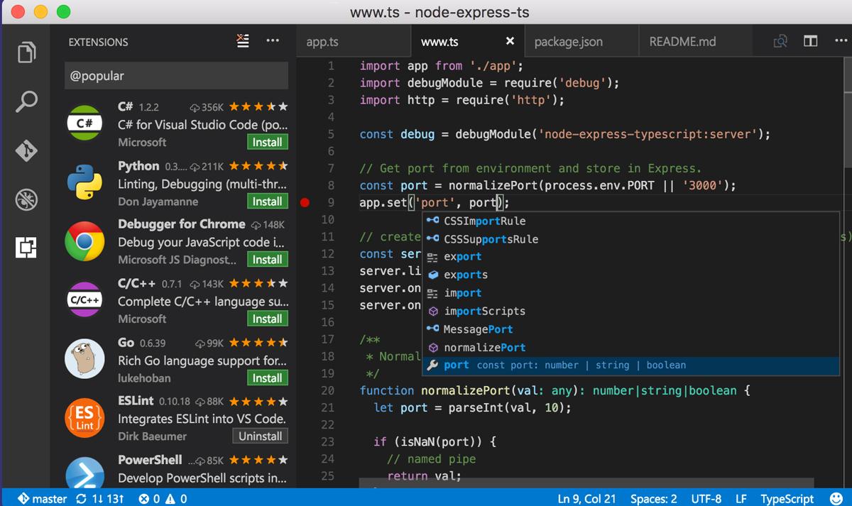 Visual Studio Code- Code Editing