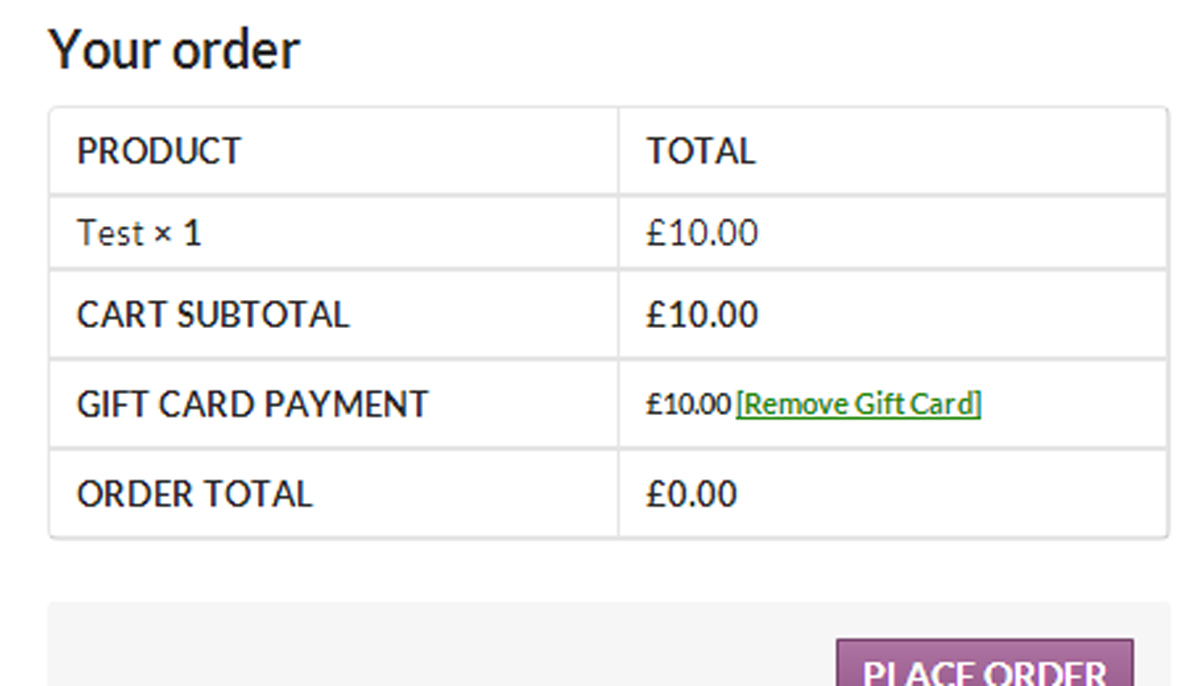 WooCommerce – Gift Cards