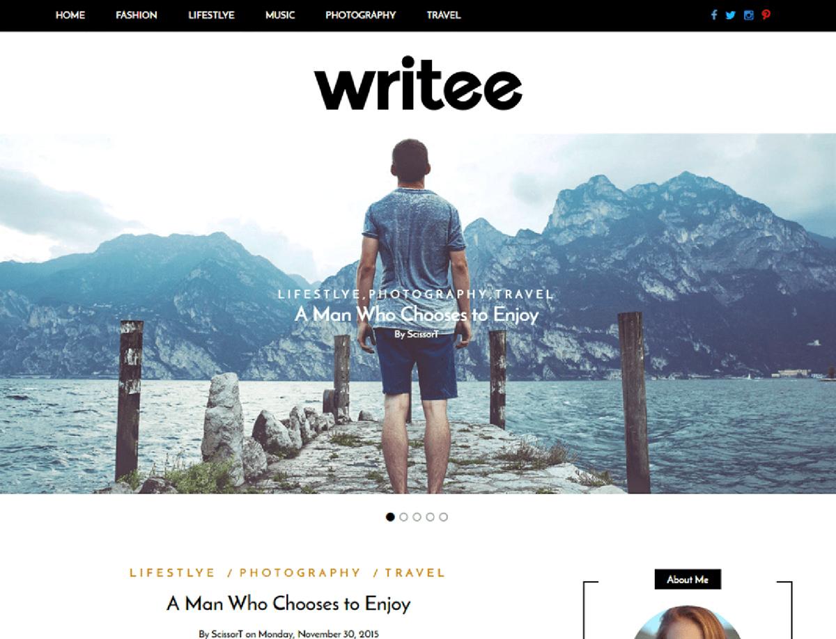 Writee - Free Blogging WordPress Theme