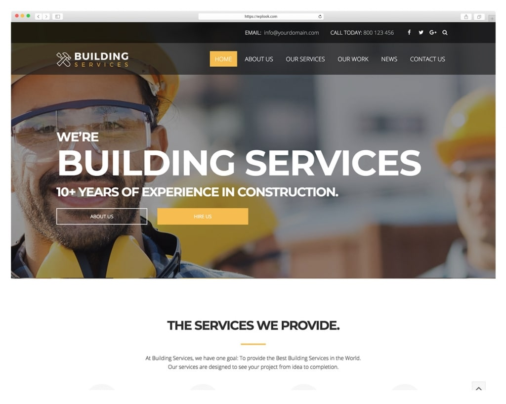 You - Construction WordPress Themes