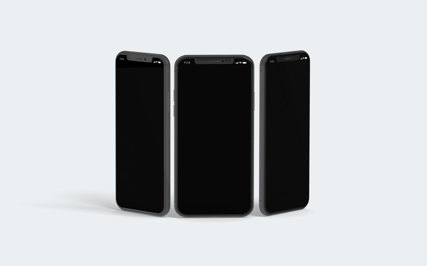 3D iPhone X Mockup