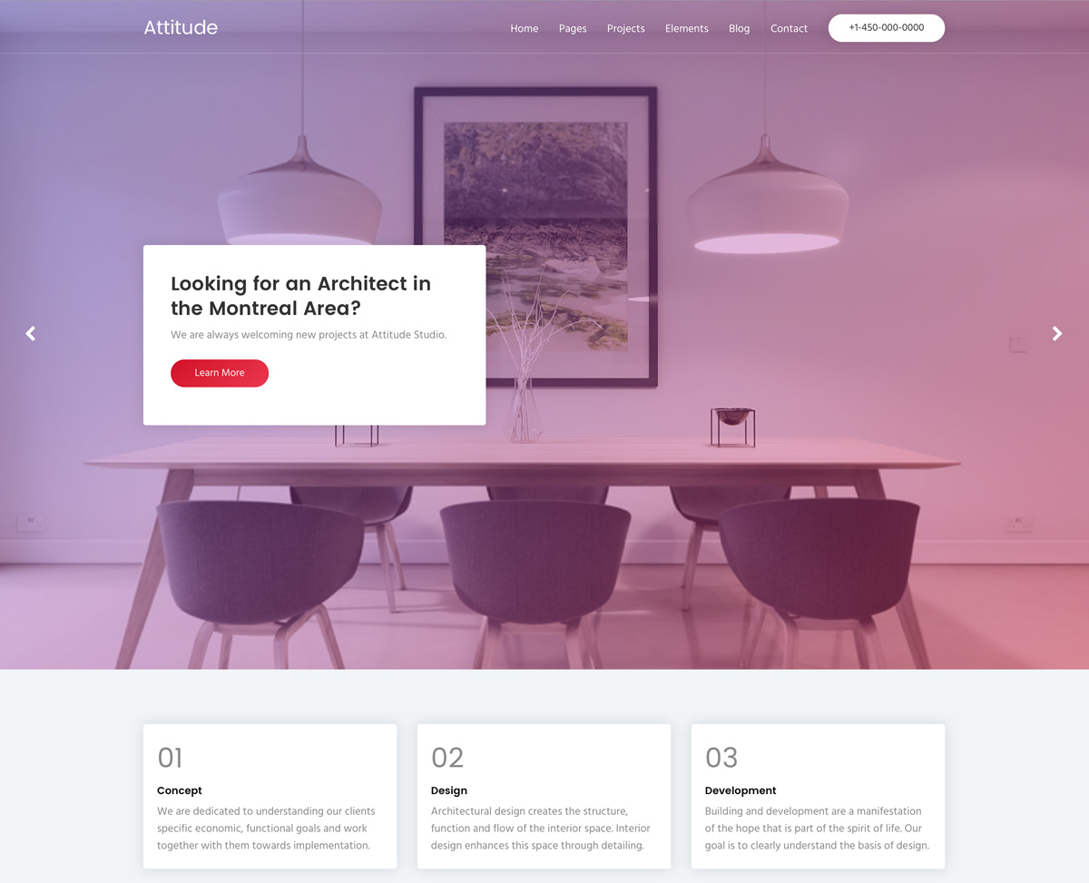 Attitude HTML Template - WPlook Themes
