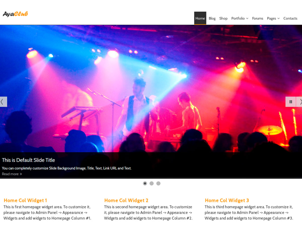 AyaClub - Free WordPress Theme for Music