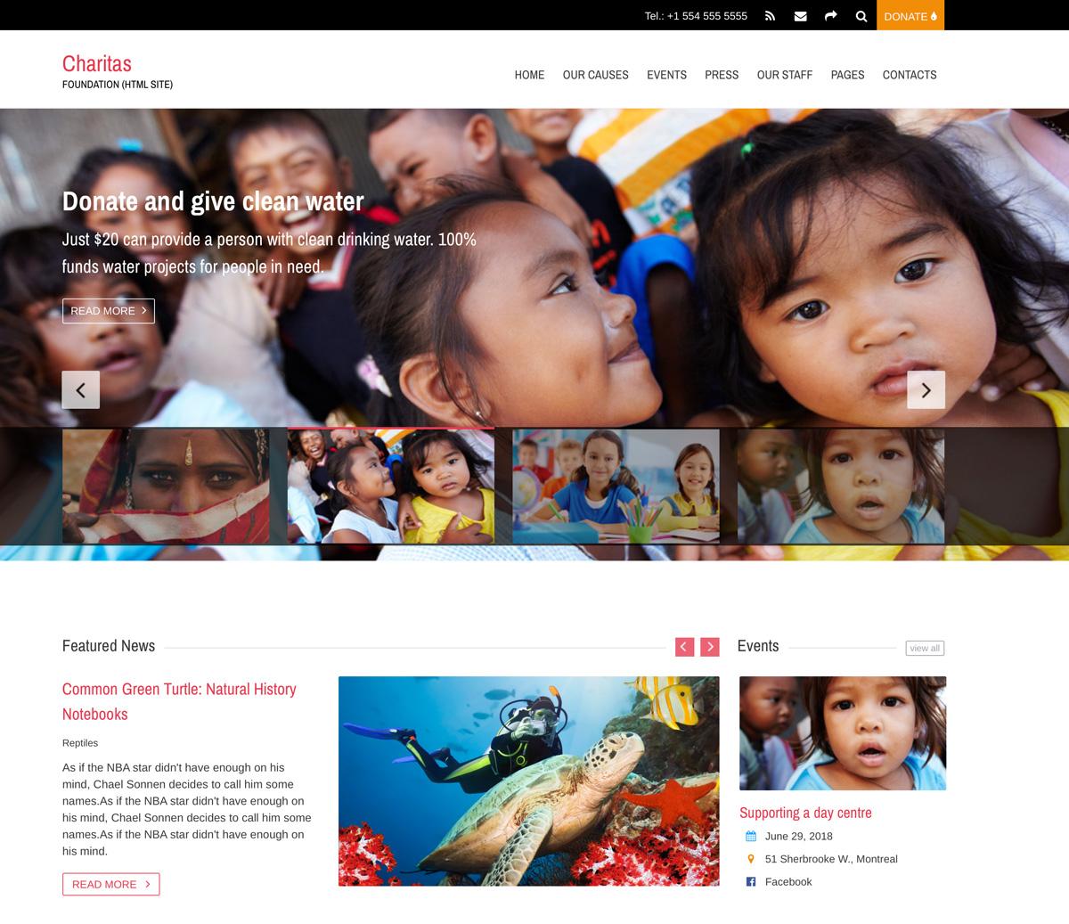 Charitas HTML Template