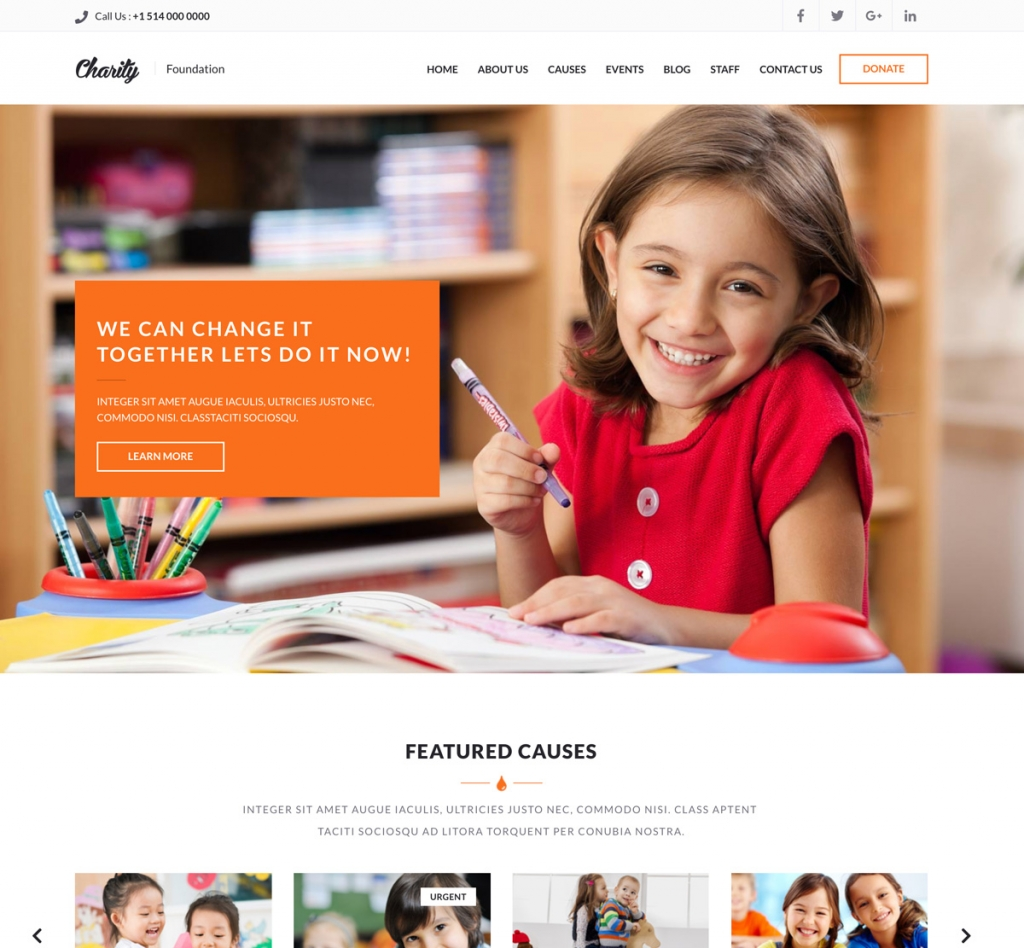 Charity – HTML Template