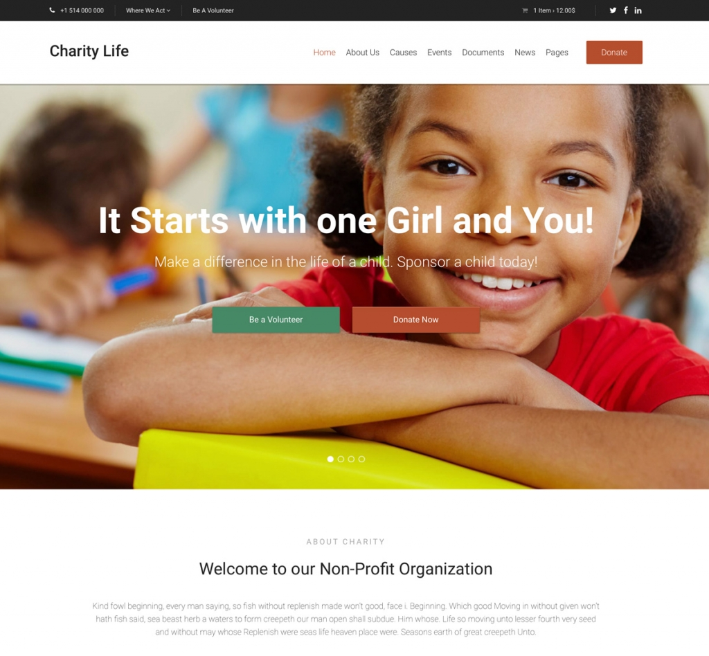Charity Life HTML Template
